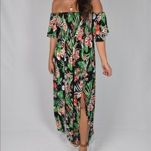 Black Tropical Maxi